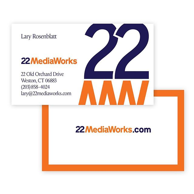 Logo package (and website, not shown) for our long time business associate, 22 Mediaworks. . @22mediaworks . . . #graphicdesign #logodesign #bookdesign #identitysystems #reportdesign #posterdesign #magazinedesign #patterndesign #design #womanownedbusiness #girlboss #typography #illustration #books #businesscard #logotype #22mediaworks #business #ulstercountyny #hudsonvalley #hudsonvalleydesigner #hudsonvalleycreative #shopdog #stoneridge #motherdaughter