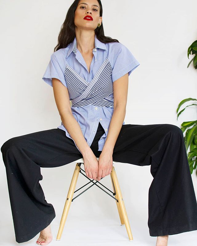 Putting the criss in our cross...#crisscrossshirt ⚔👕❤⠀ .⠀ .⠀ .⠀ .⠀ .⠀ @christiana_sia⠀ #jetti #jettieffect #minimal #minimalstyle #minimaliststyle #minimalfashion #minimalistfashion #minimalove #minimalwardrobe #slowfashion #buylessbuybetter #ethicalfashion #sustainablefashion #sustainablestyle #sustainableluxury #emergingdesigner #stripes  #cottonshirt #perfectshirt #shirtstyle #londonstyle #londonfashion #classicstyle #effortlessstyle #lessismore #simplicity #capsulewardrobe #simplestyle #styleatanyage⠀ ⠀