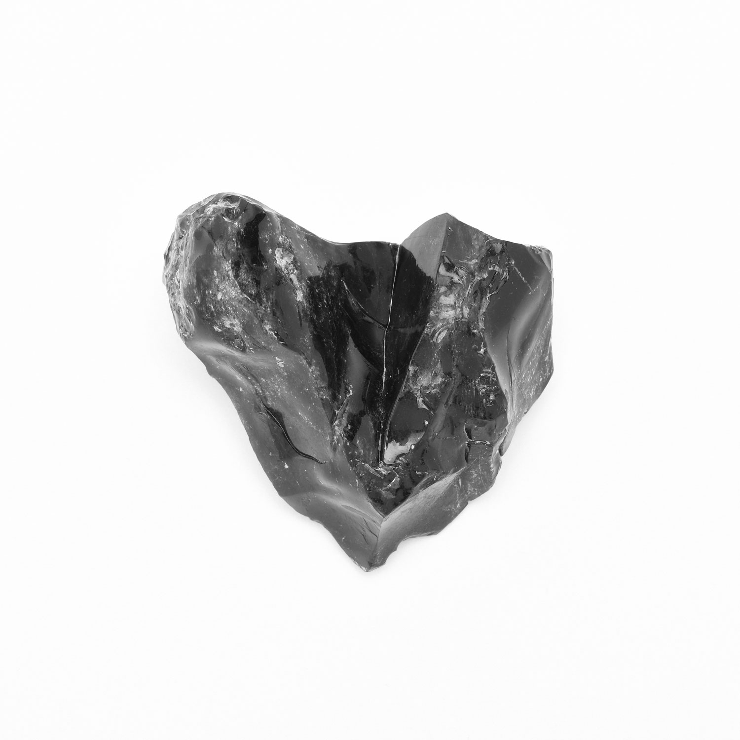 An obsidian heart found that day.