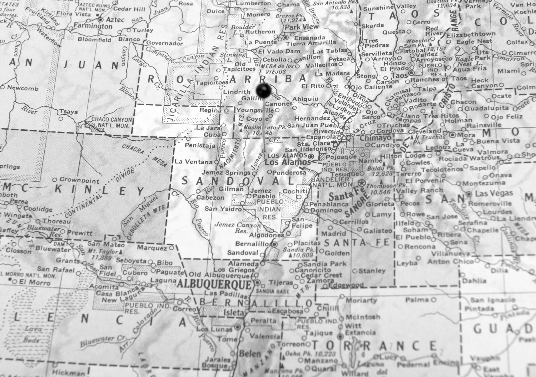 Map detail from Hammond's World Atlas, C.S. Hammond & Co., Inc.
