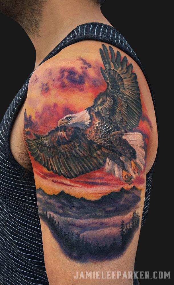 Flying Eagle Sunset
