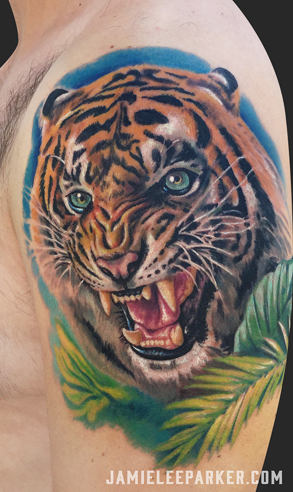 Roaring Tiger Portrait