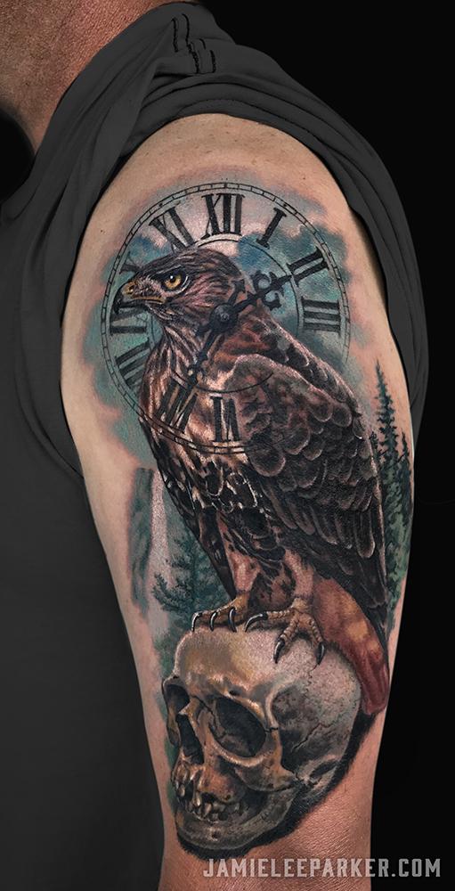 Hawk & Skull