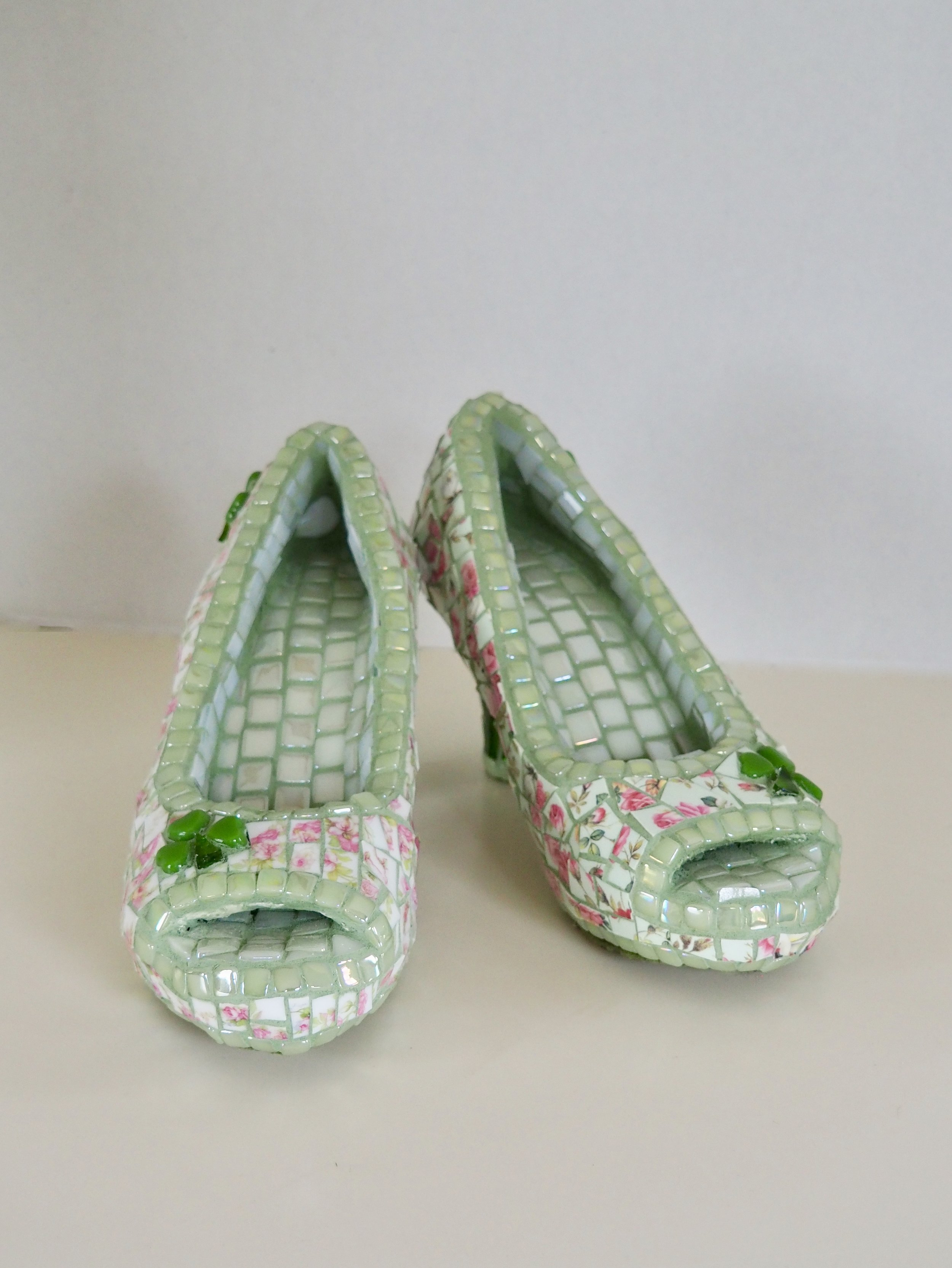 My Lucky Heels - Tesserae includes china, glow in the dark tiles, tiny tiles and stained glass.