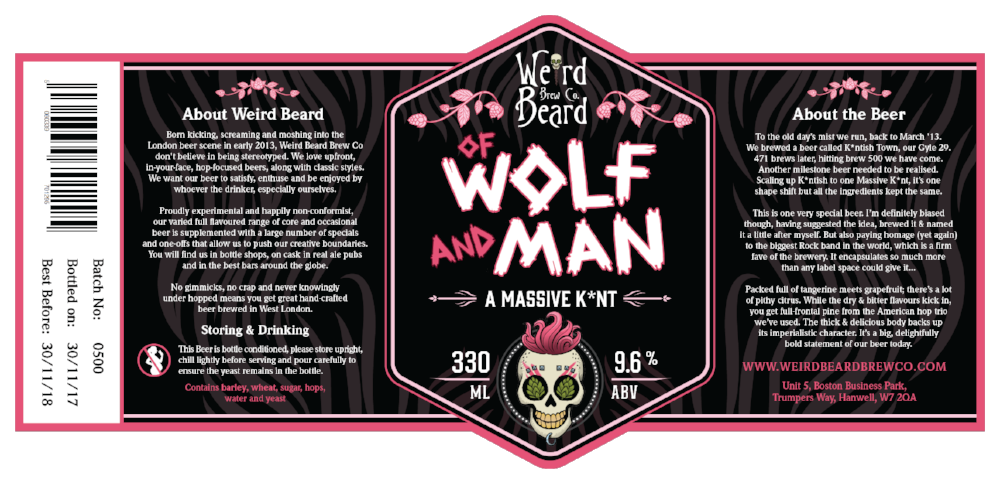 Thanks to our wonderful artist  Chris  for whipping up the label, similar in style to KTB yet very much also featuring what looks like my very own Lup'in.