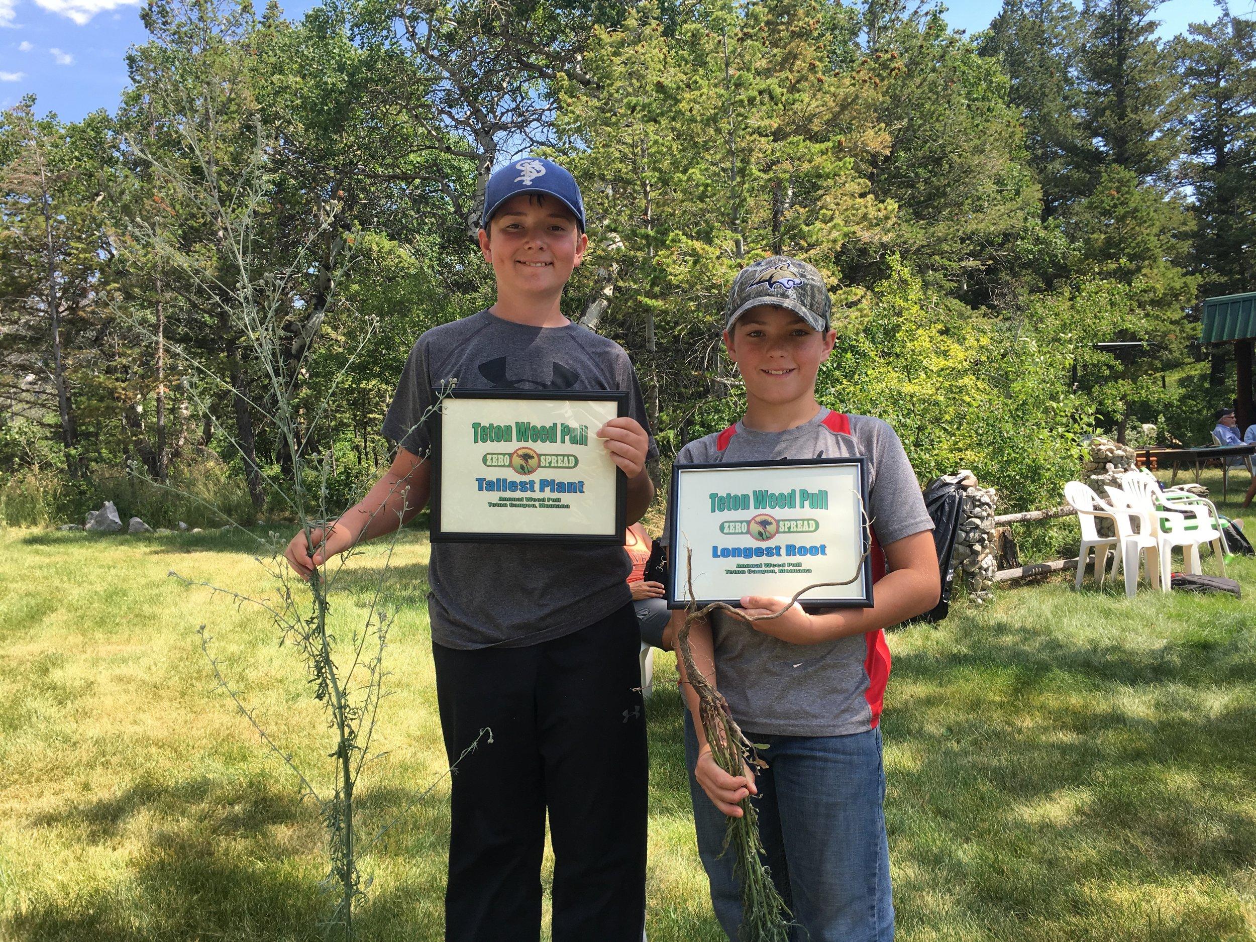 2017 Teton Weed Pull awards