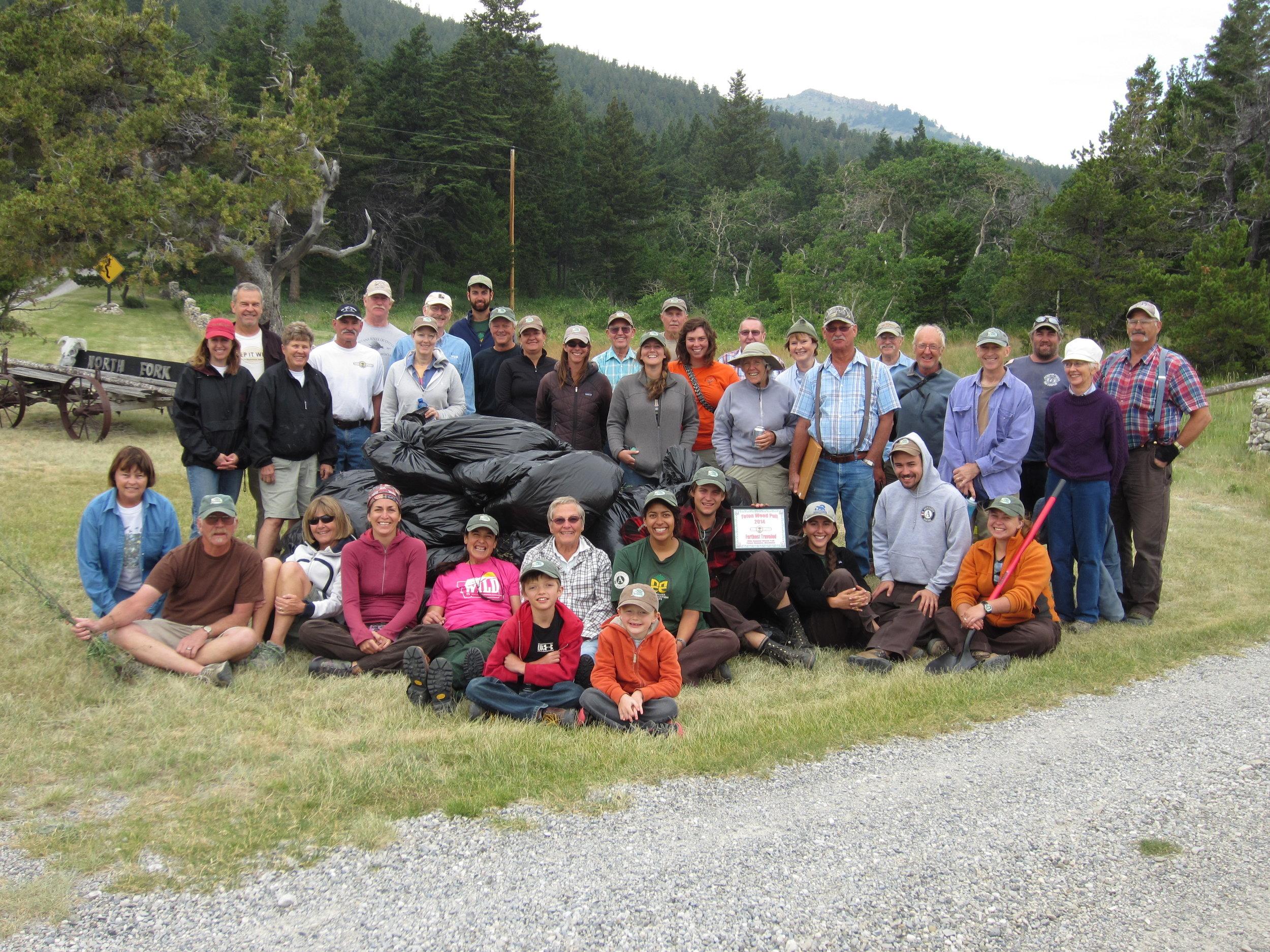 2014 Teton Weed Pull crew
