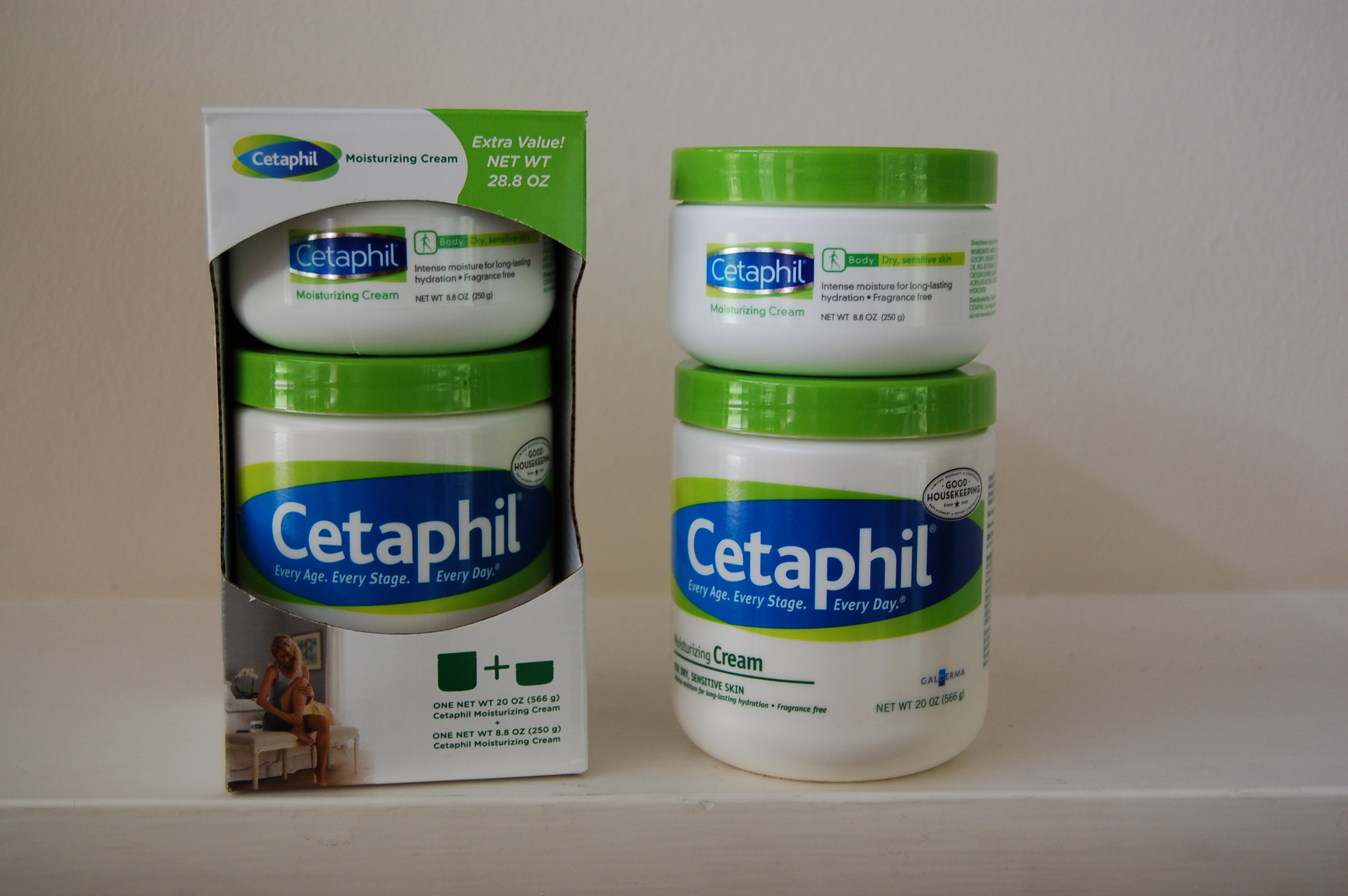 Cetaphil Moisturizing Cream, purchased at Costco.