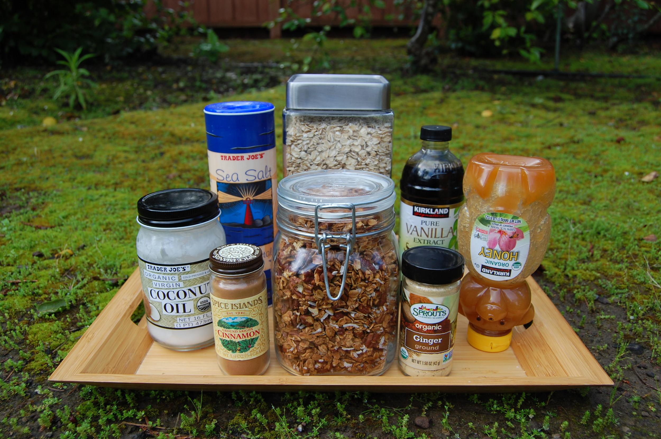 Homemade Granola, Ingredients