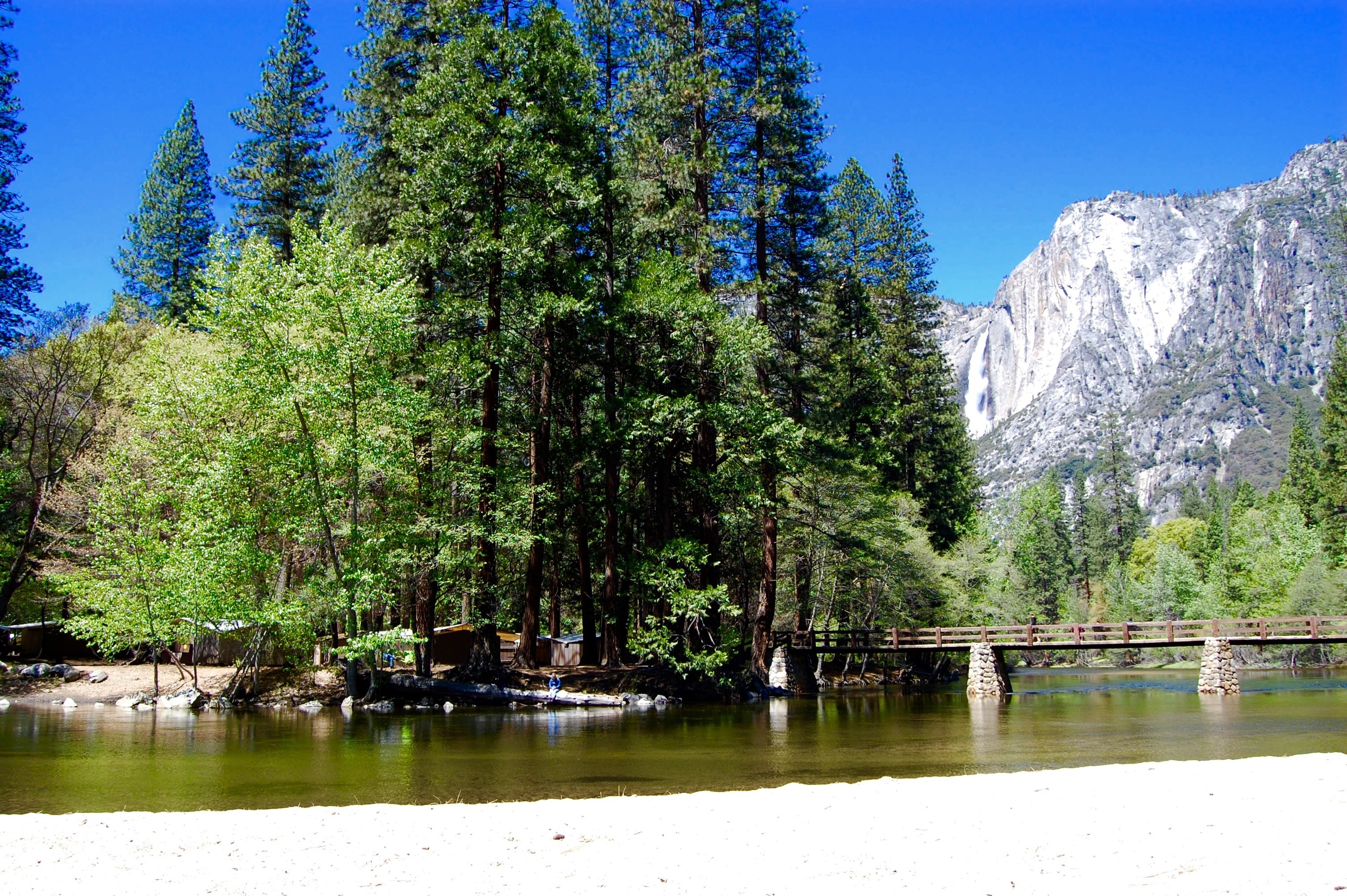 Yosemite National Park, Housekeeping Camp and Yosemite Falls