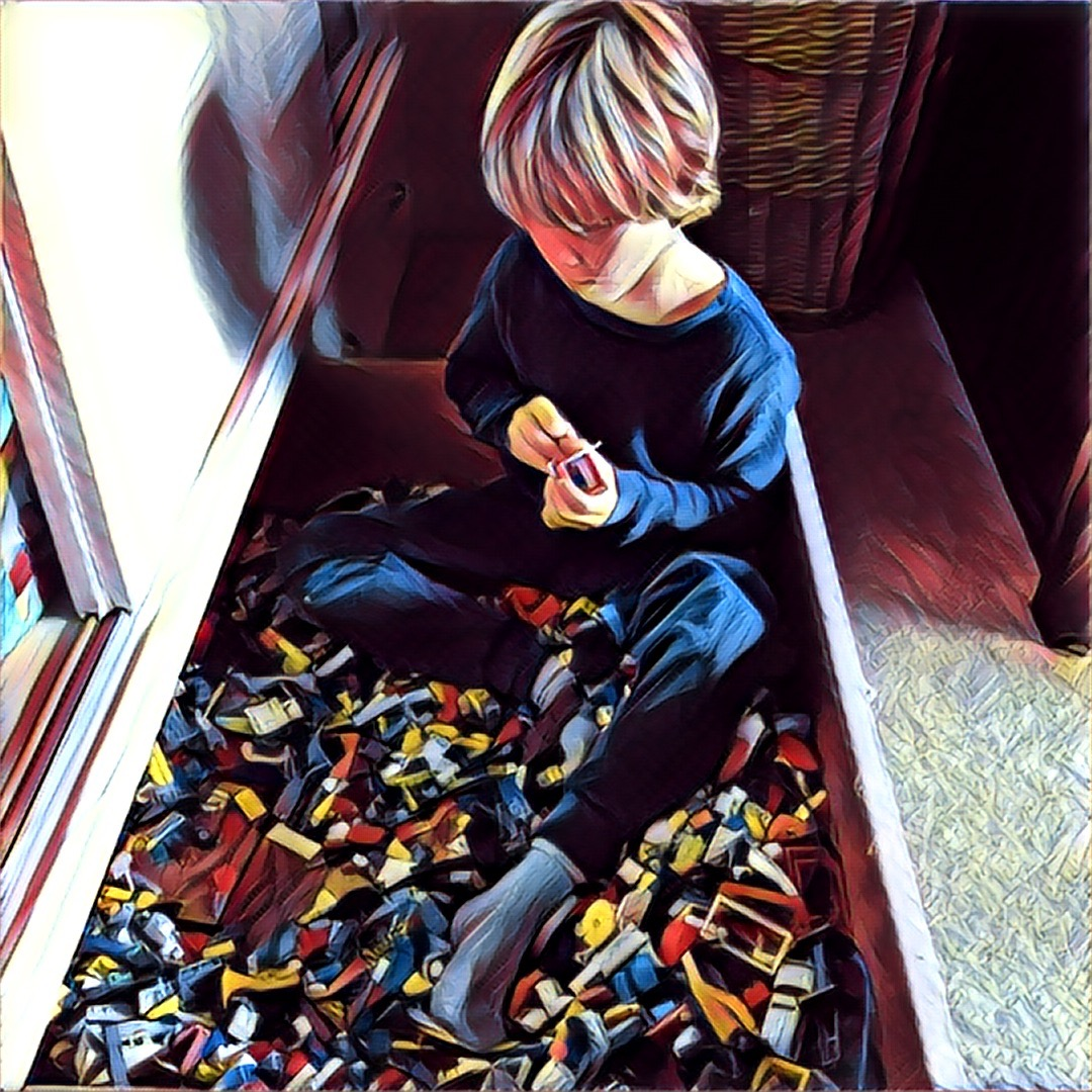 Boy in LEGO Drawer