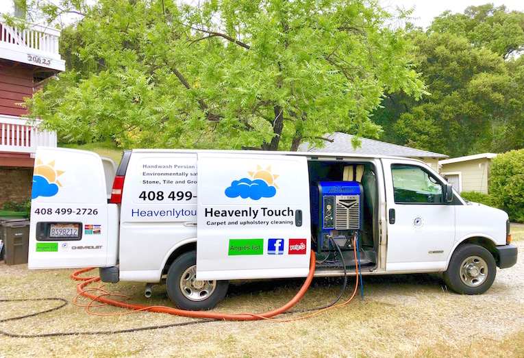 Heavenly Touch buys their steam machine brand new and replaces it every few years. This sets them apart from the competition: most carpet cleaners buy used equipment.