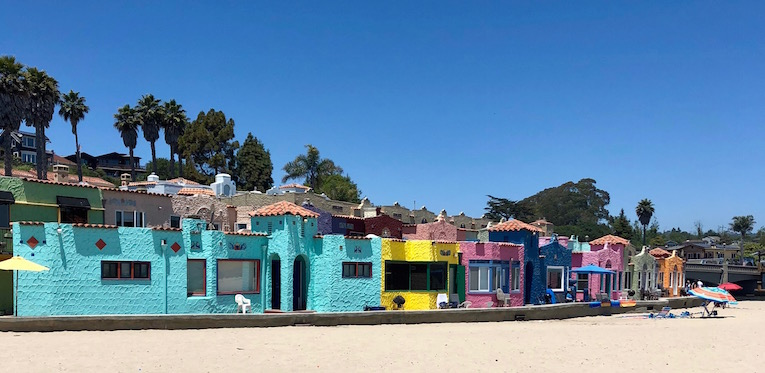 The Painted Ladies of Capitola.
