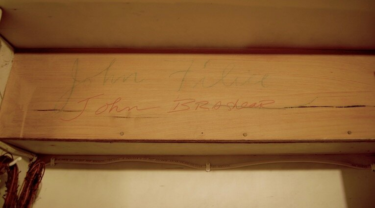 Can you make out John Filice's handwritten name? Right underneath, the second male owner, John Brashear, followed suit and signed his name. The house has a strong history of pride of ownership.