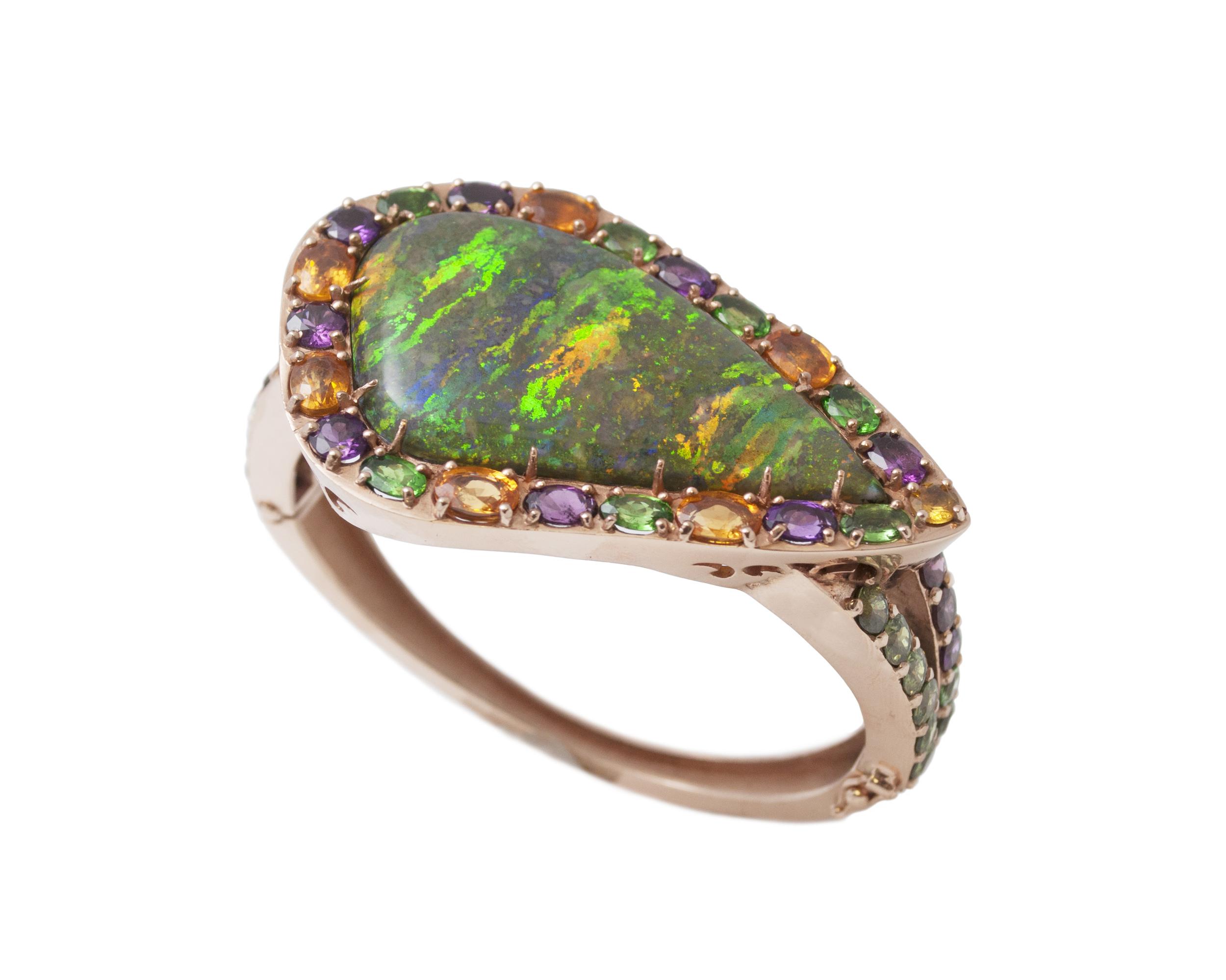 Rose Gold & Opal Bangle
