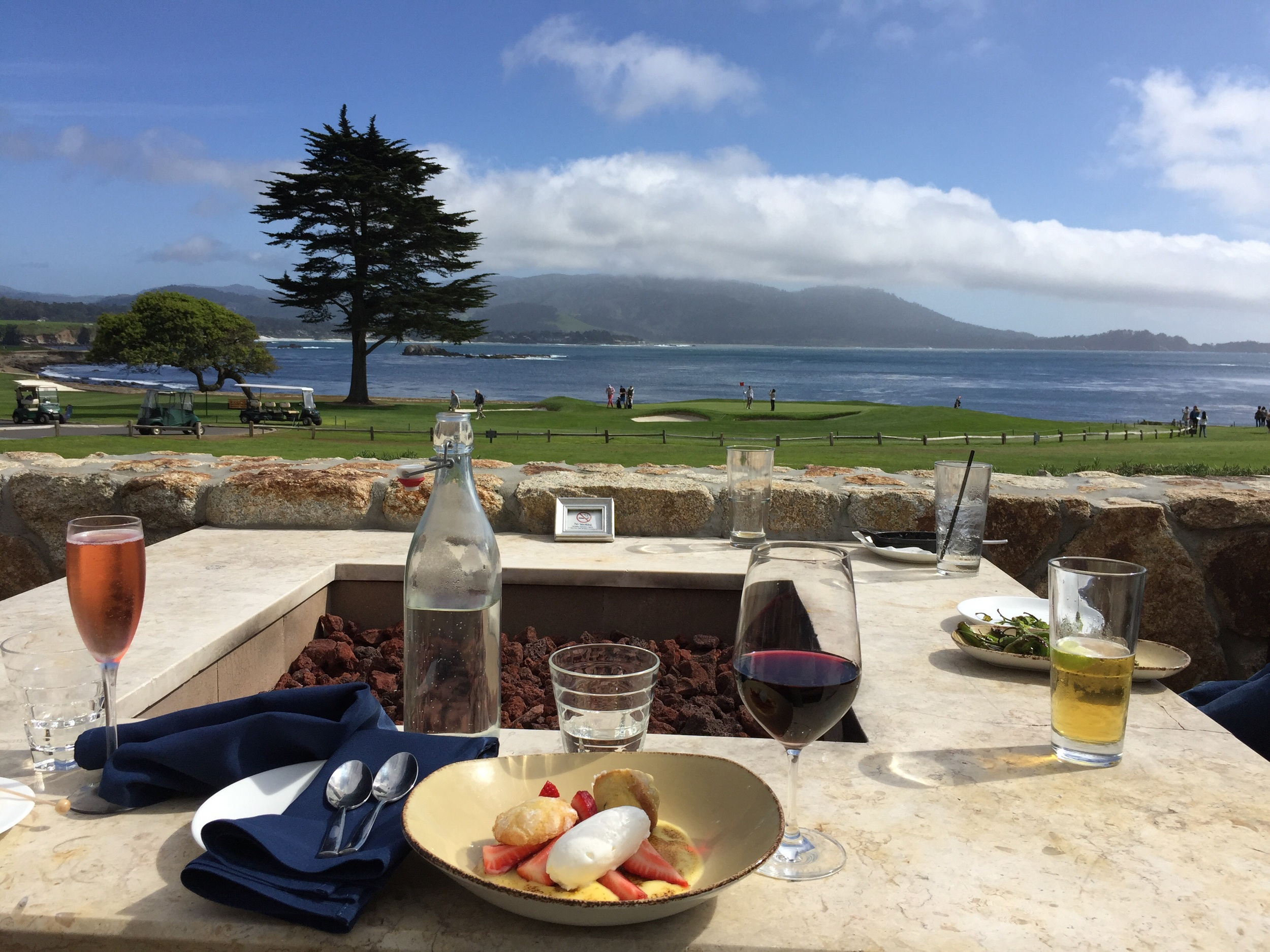 """Pebble Beach Golf Course for Lunch.  Make Reservation at """"The Bench"""""""