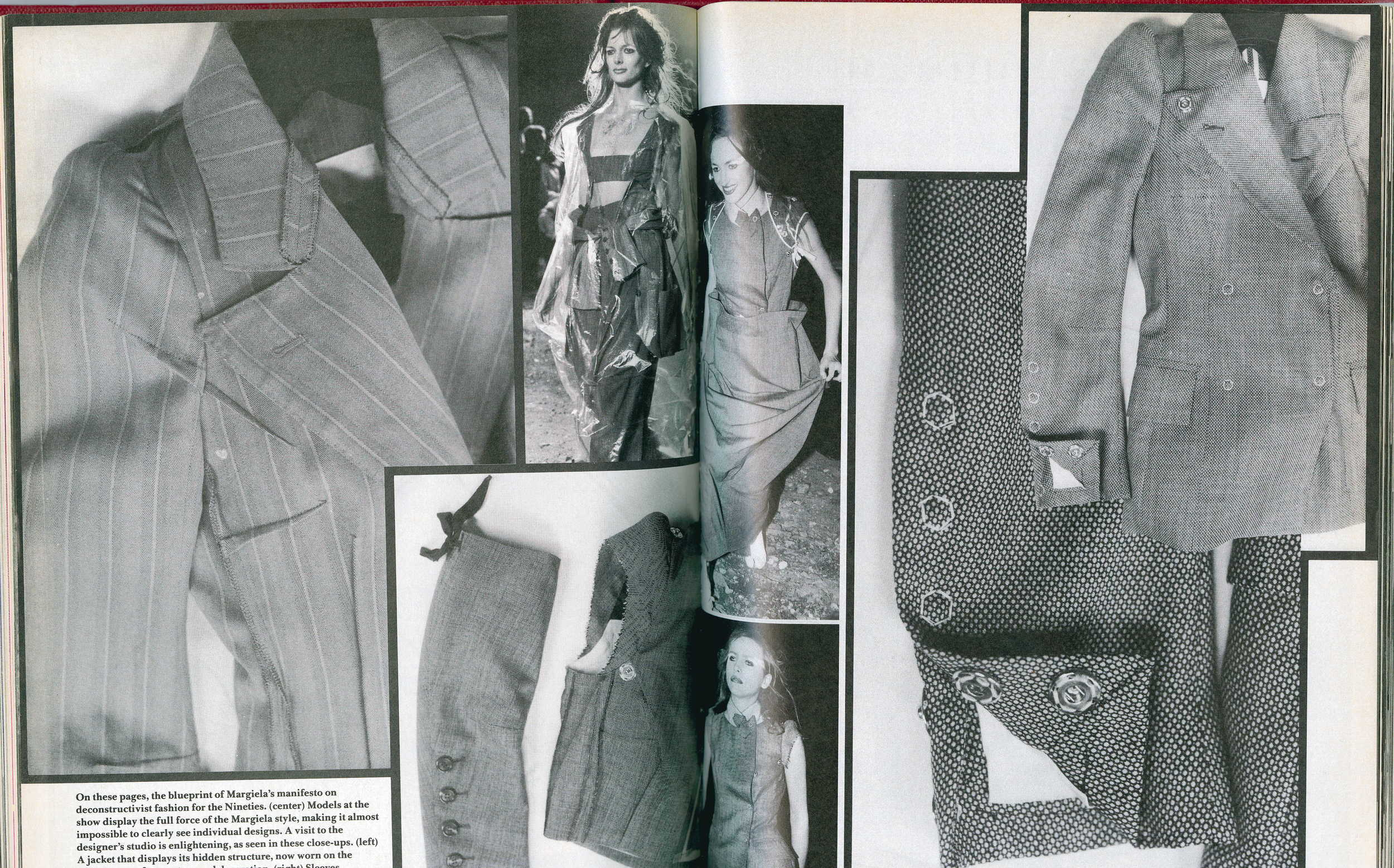 BILL CUNNINGHAM, IMAGES AND TEXT On MARTIN MARGIELA, SPRINg/SUMMER 1990,  DETails,  MARCH 1990