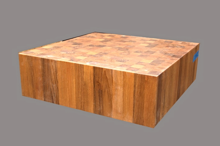 End Grain Teak Butcher Block - 2016