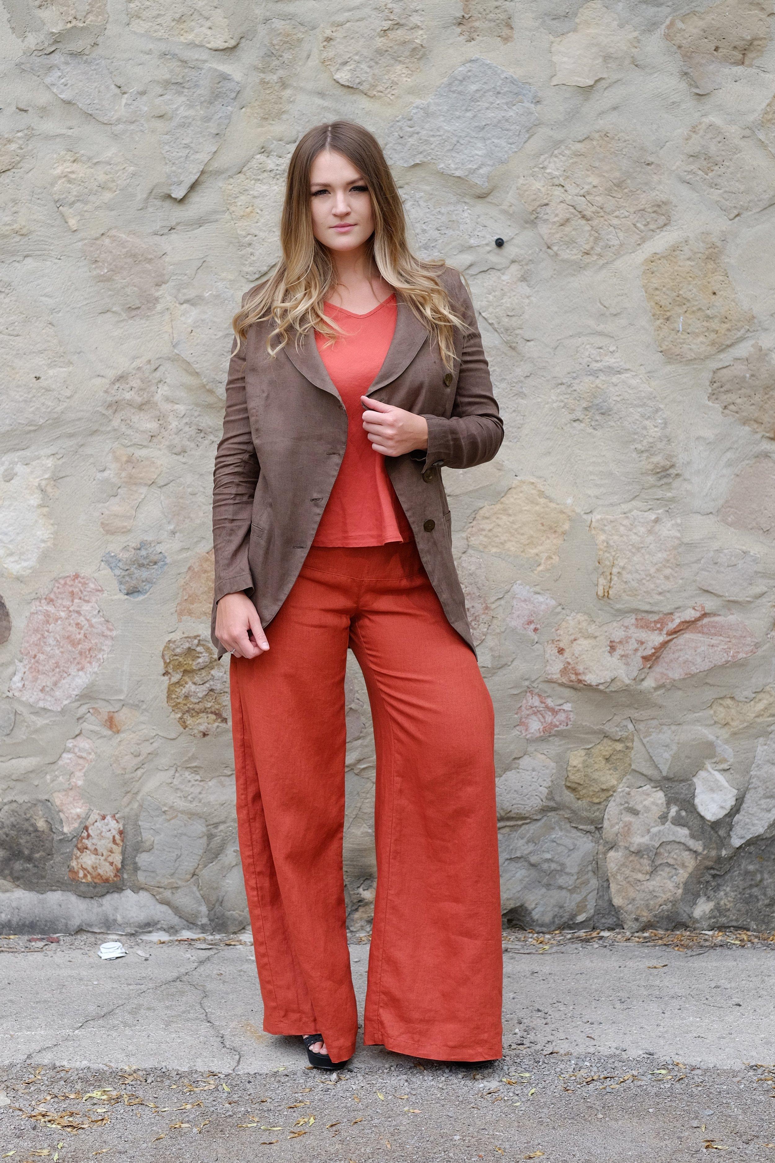 Asymmetrical Jacket and Retro Pant