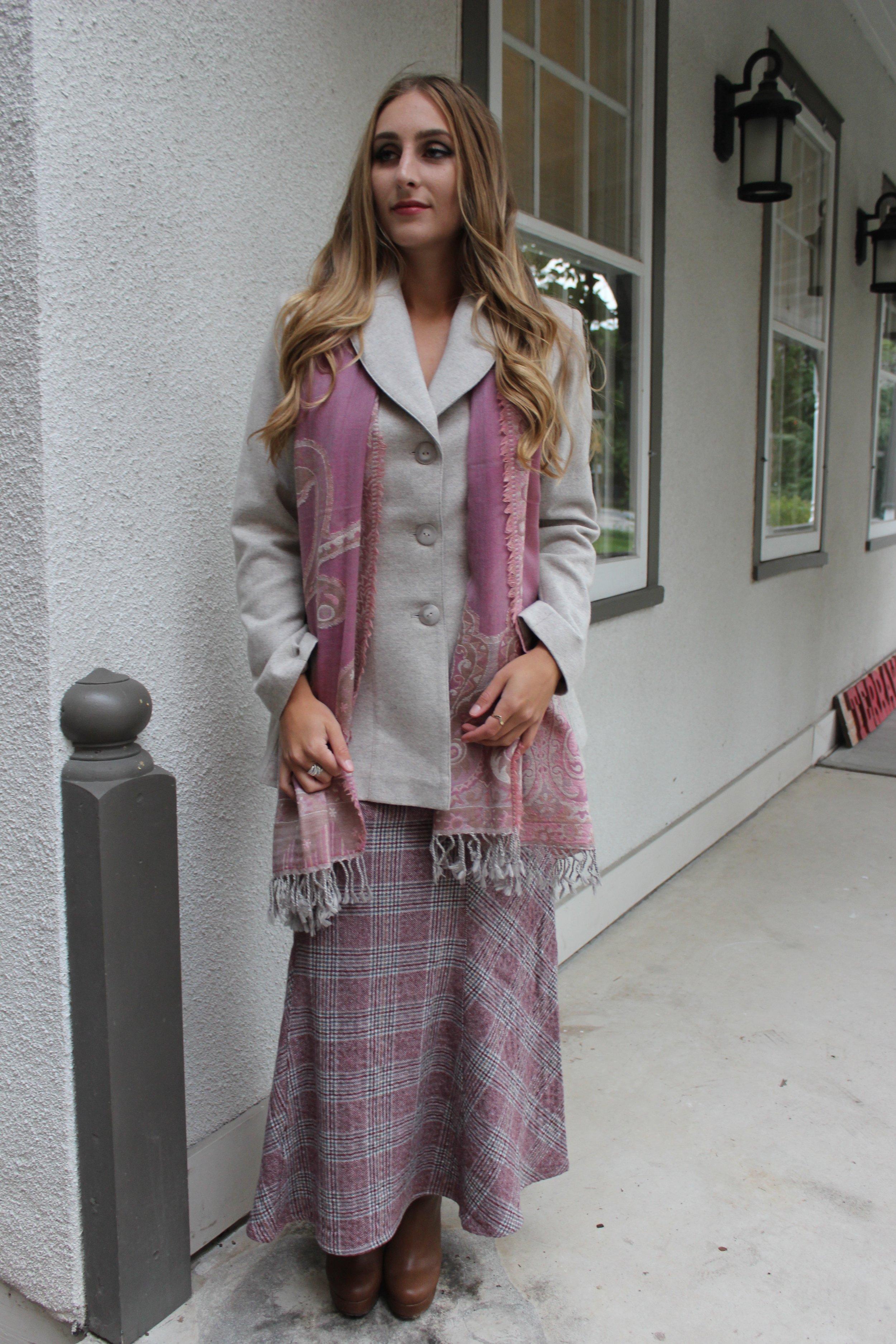 Riding Jacket and Peplum Skirt