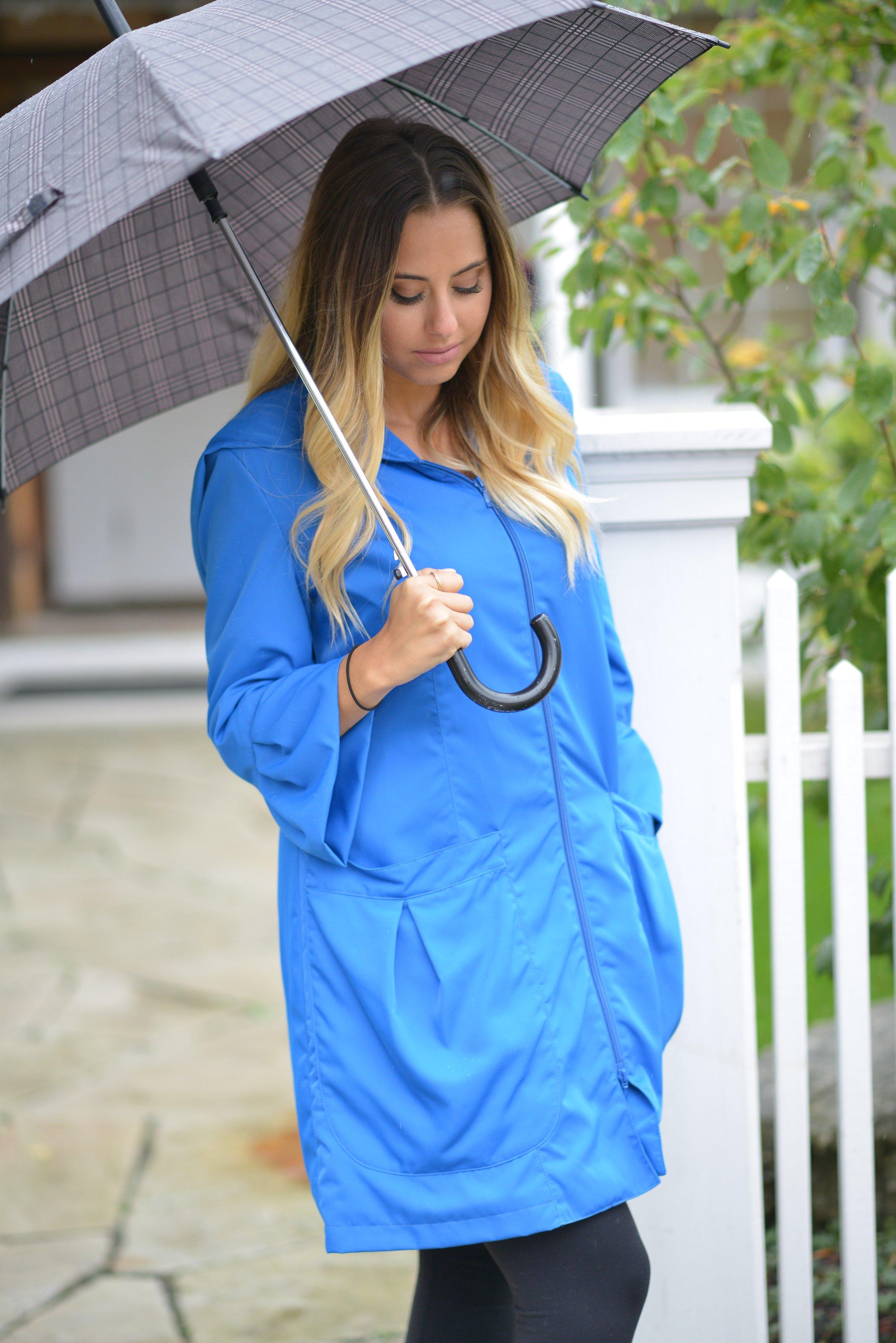Ruffle Sleeve Raincoat