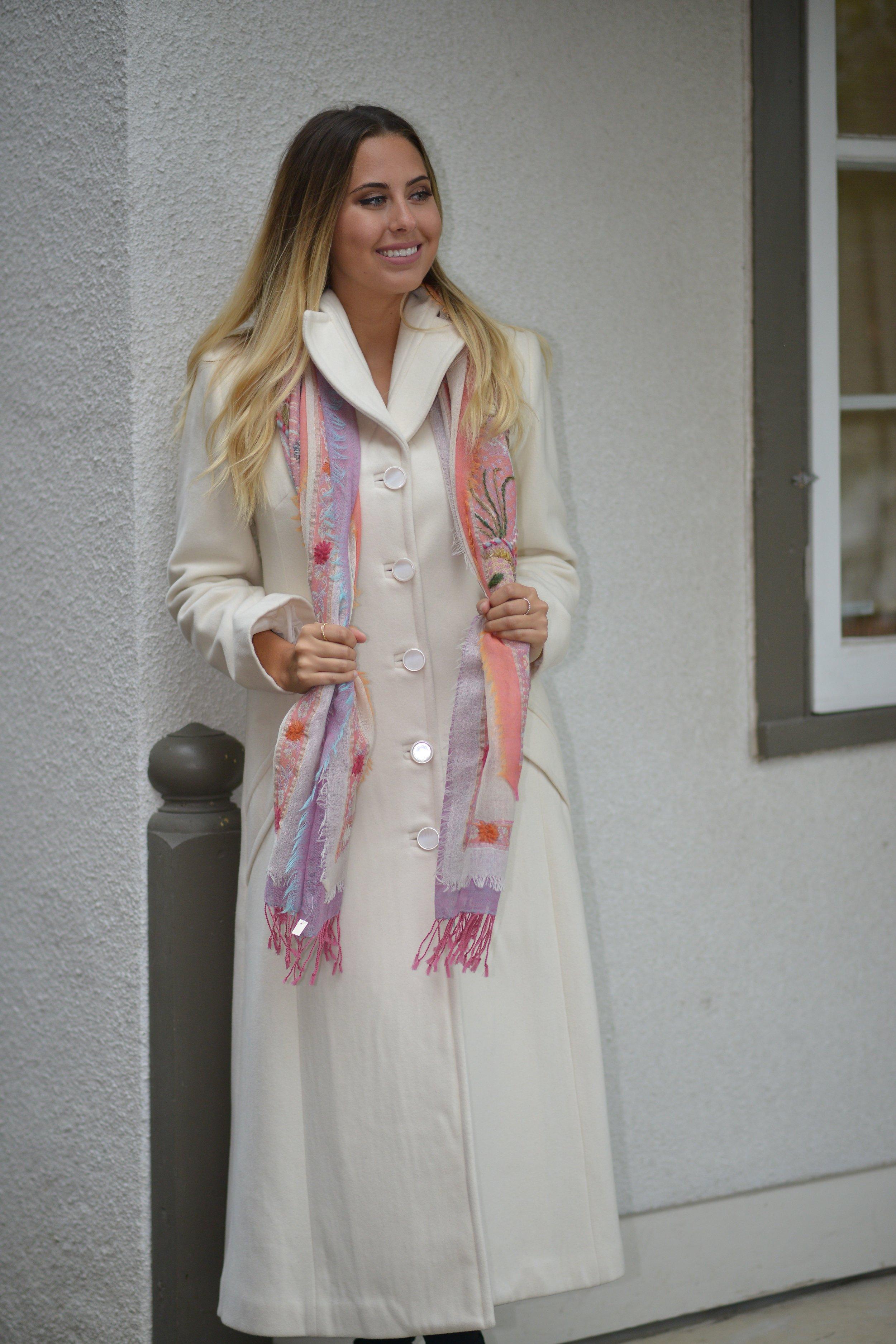 Cream Urban Long Coat