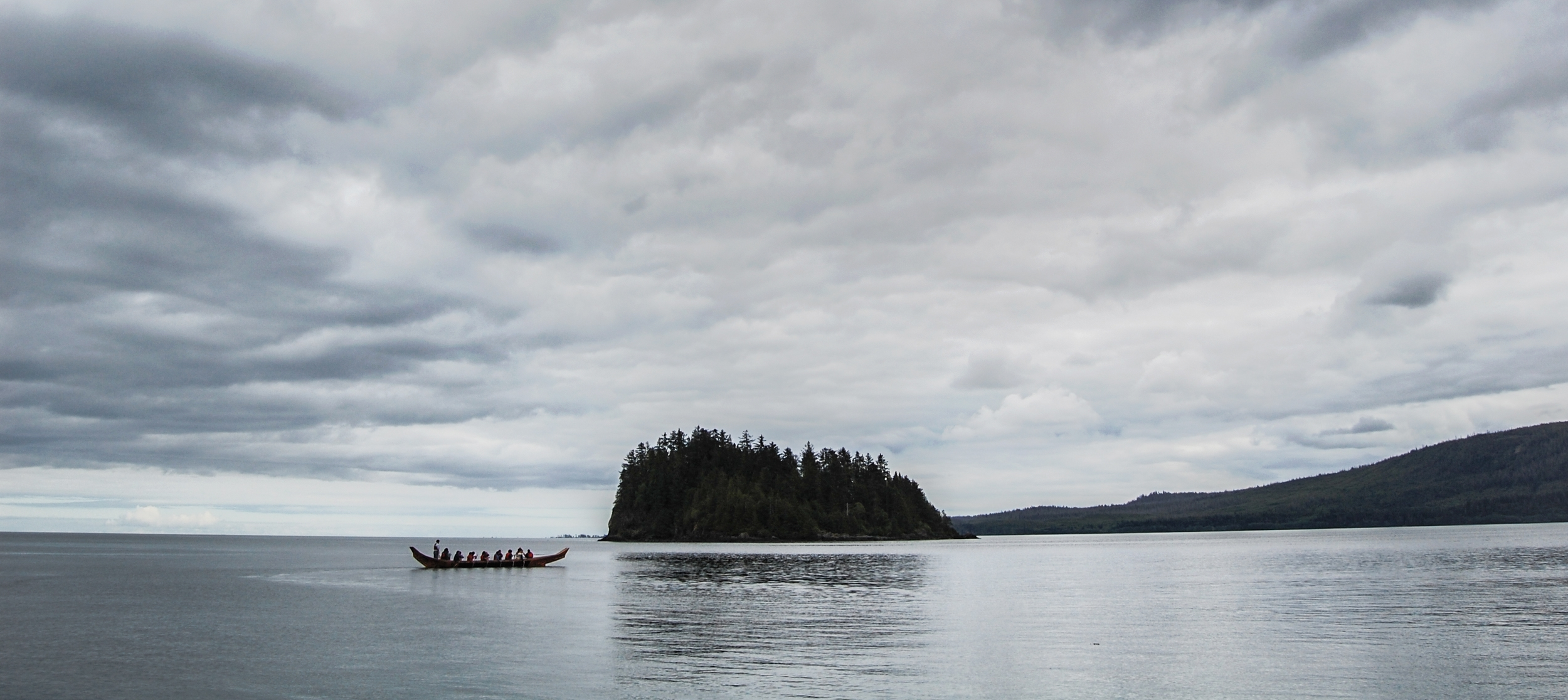 Why not go for a paddle in a traditional Haida canoe?