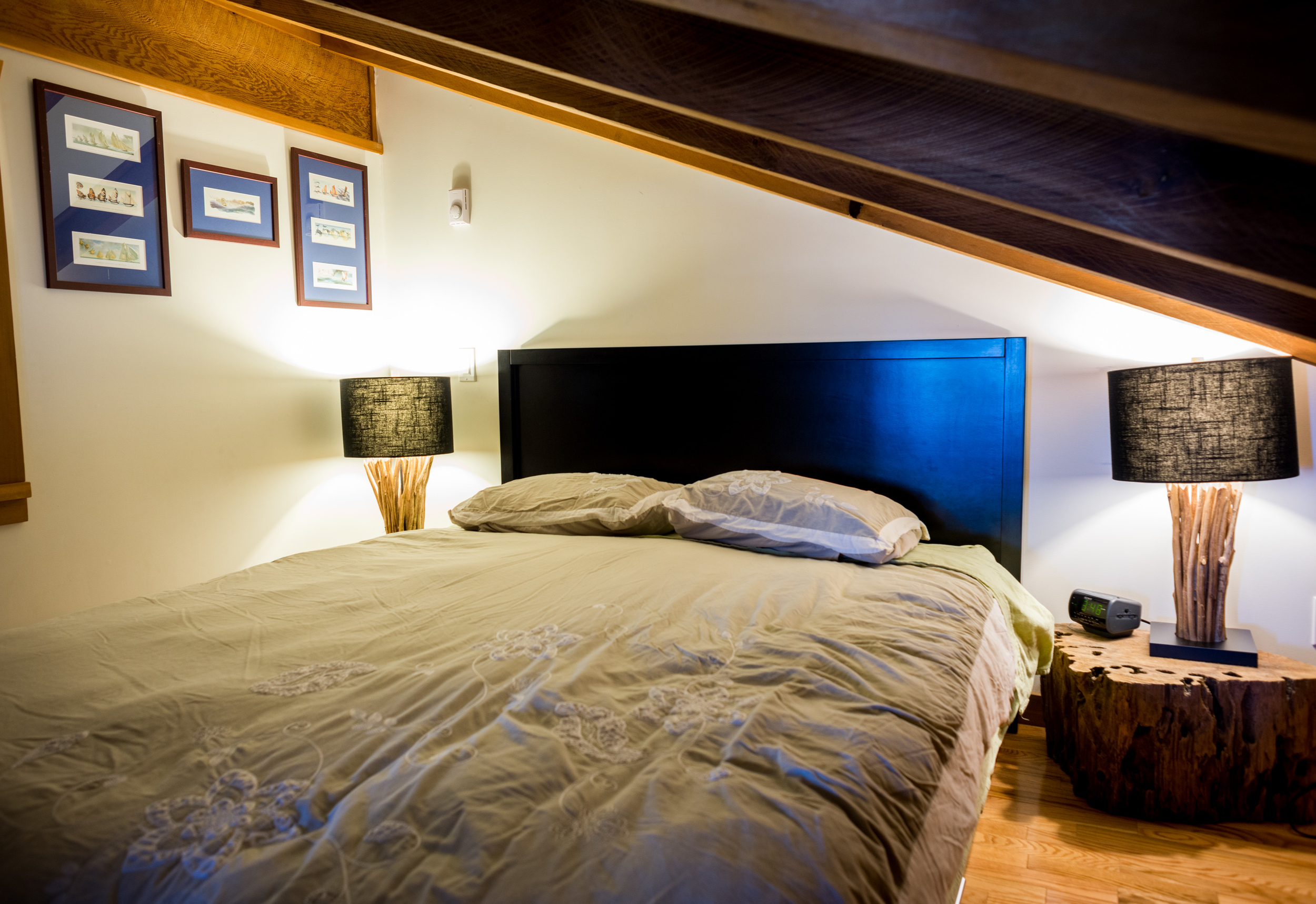 The cozy upstairs bedroom