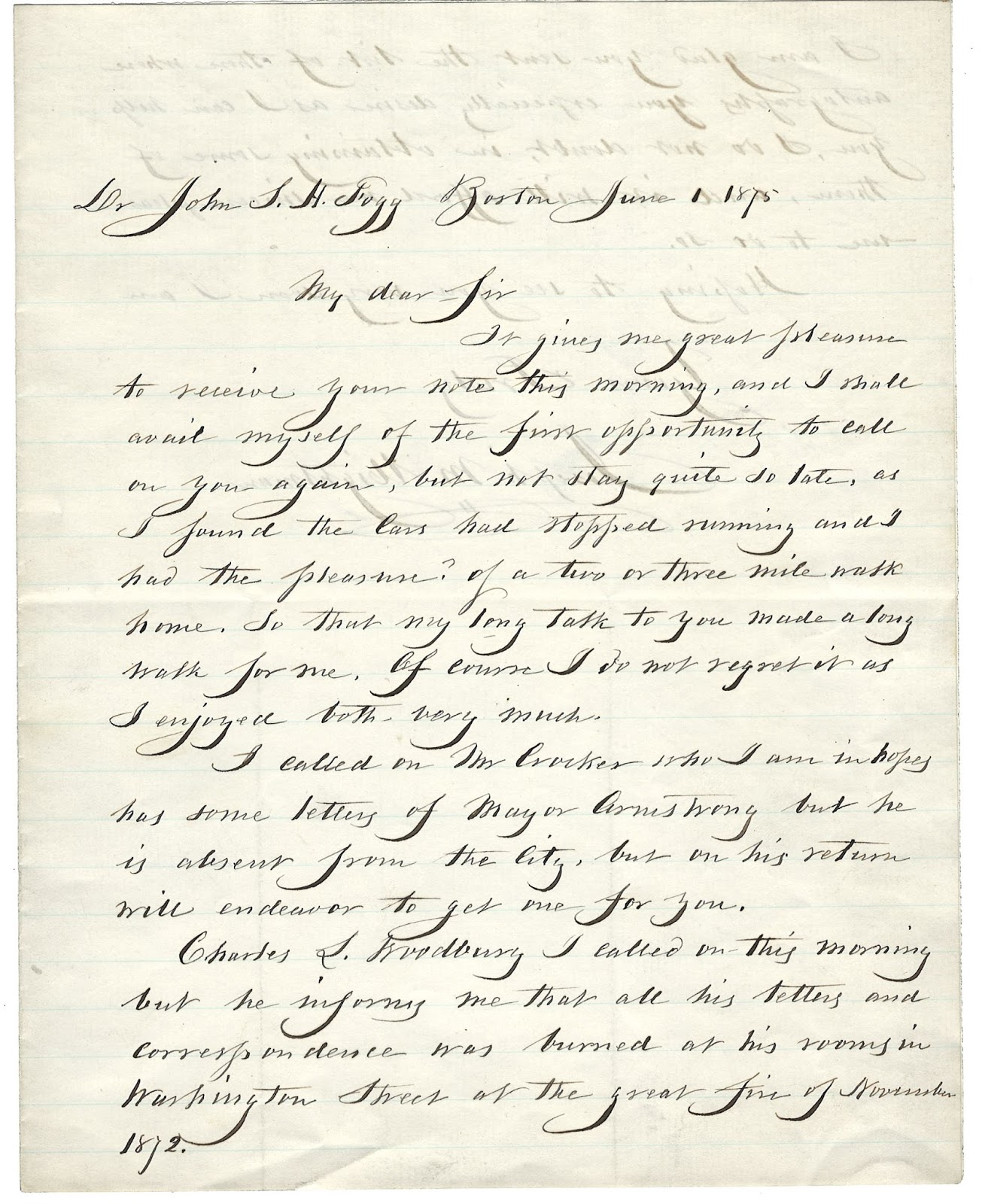 Letter from Wightman to Fogg (MS0119/DC921.1875)
