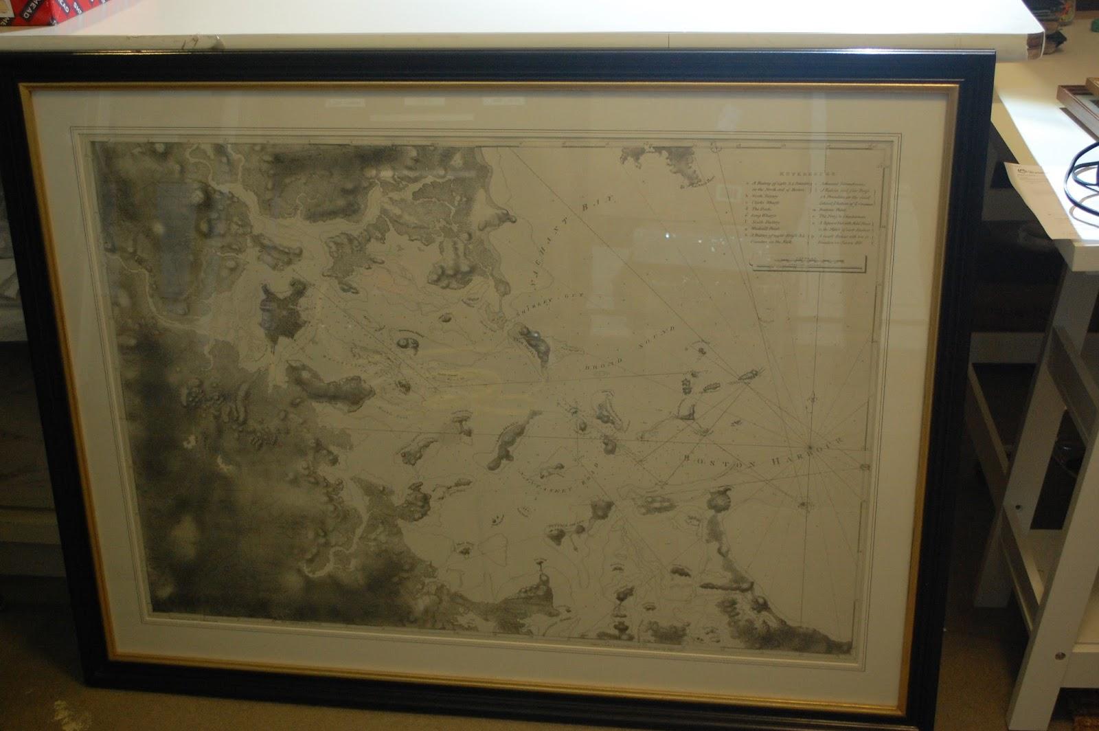A Chart of Boston Bay.  Gift of Peter Kastner, 2016.0001.001
