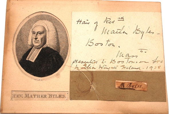 1886.0025 Reverend Mather Byles, engraved by S. Harris. Museum Purchase.
