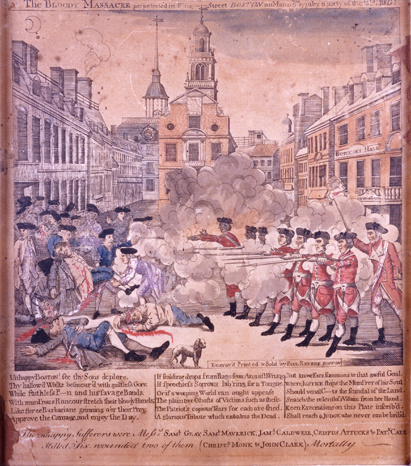 1883.0097 Paul Revere's Massacre Print, 1770