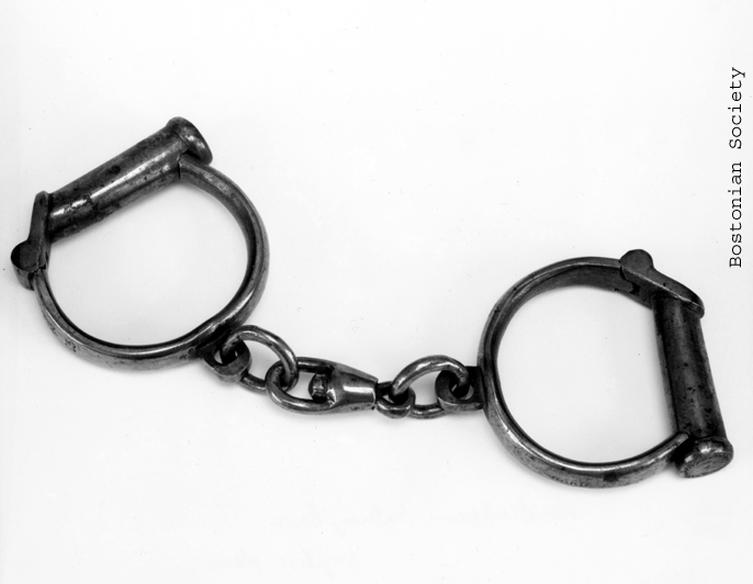 1923.0007 Handcuffs Worn by Anthony Burns. Gift of Mrs. Jerome W. Doten.