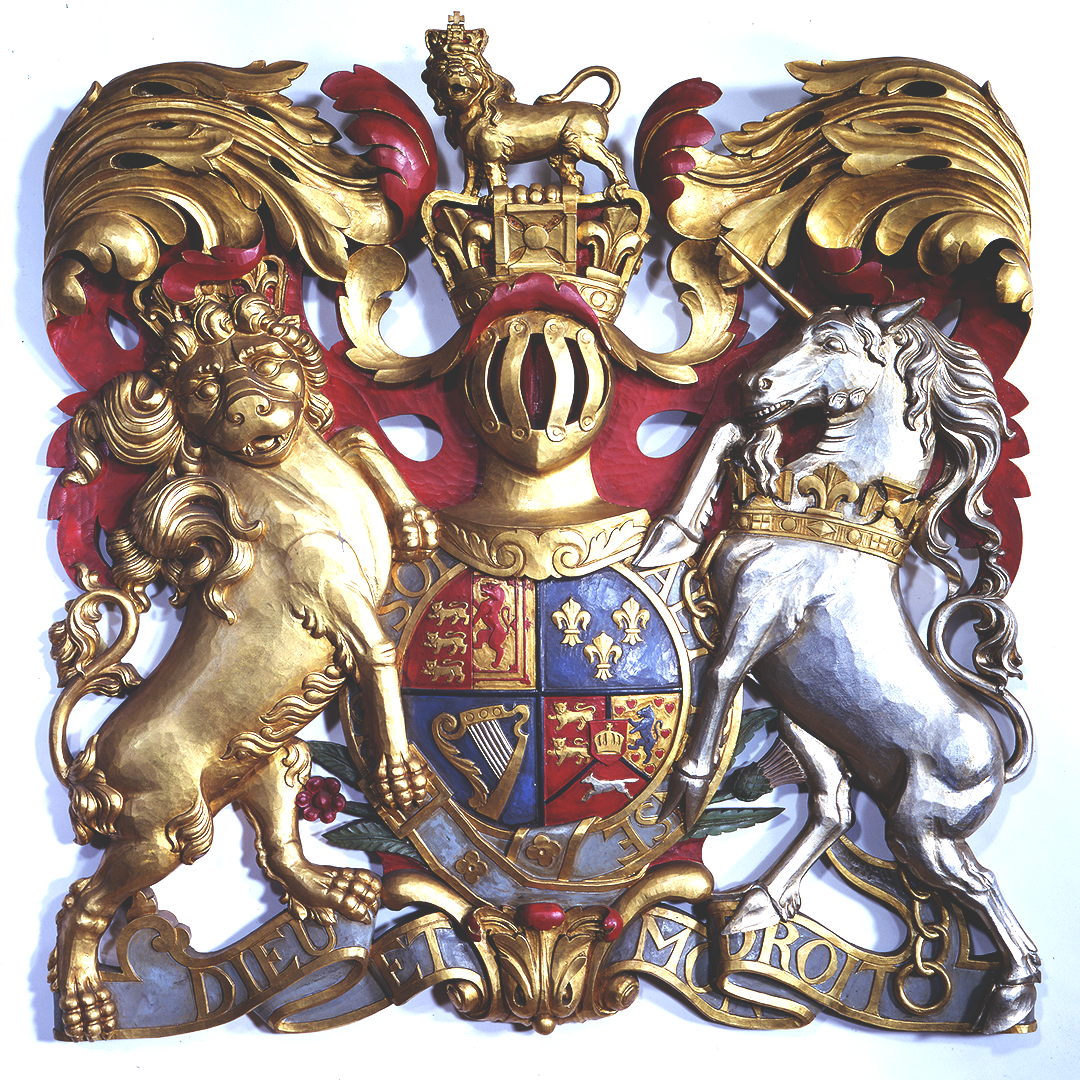 The coat of arms of King George III.