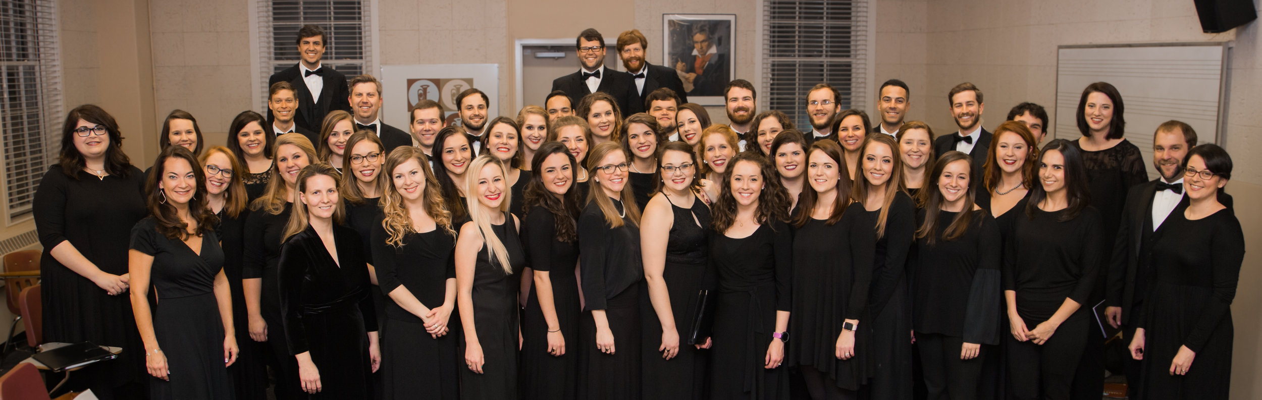 Presbyterian College Choir Alumni before the 2017 Christmas at PC! performance.