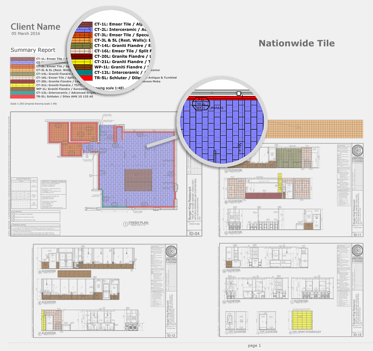 Color Coded Design Plan