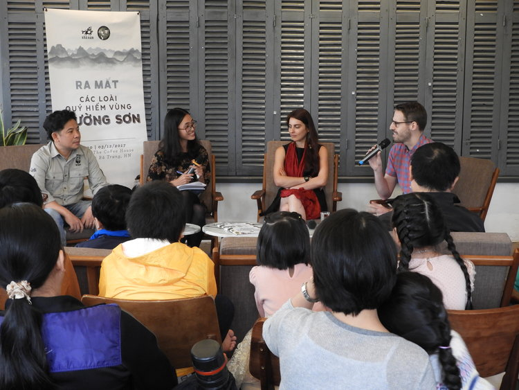 "Press conference for the Vietnamese release of ""Wonders of the Annamites"" in Hanoi, Vietnam."