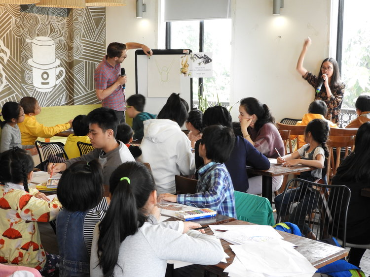 """Wonders of the Annamites"" Art Workshop in Hanoi, Vietnam."