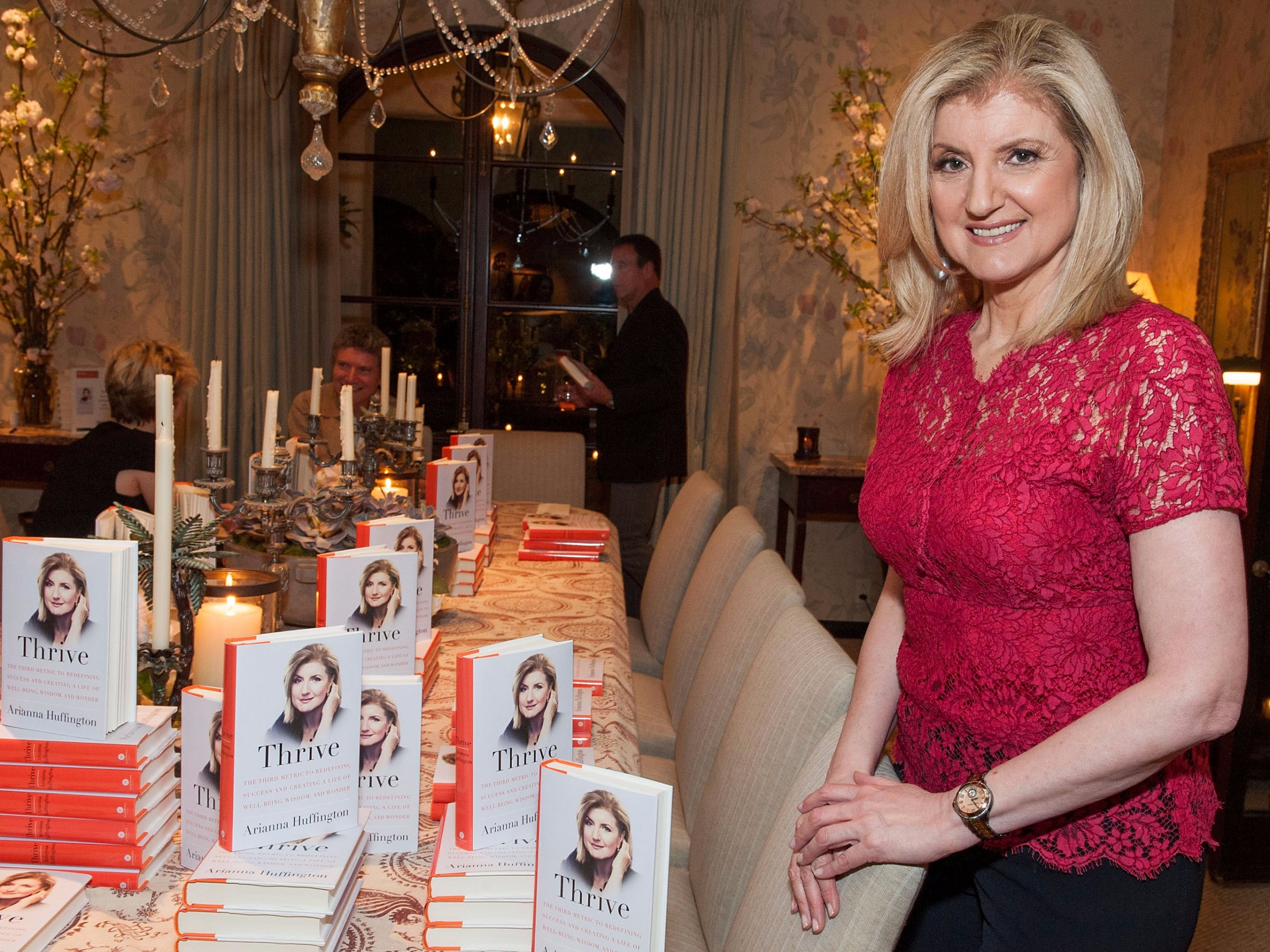 """Arianna Huffington at her """"Thrive"""" book launch.  Valerie Macon/Getty Images    Here's everything you need to know about Arianna Huffington's new company   By  Lara O'Reilly"""