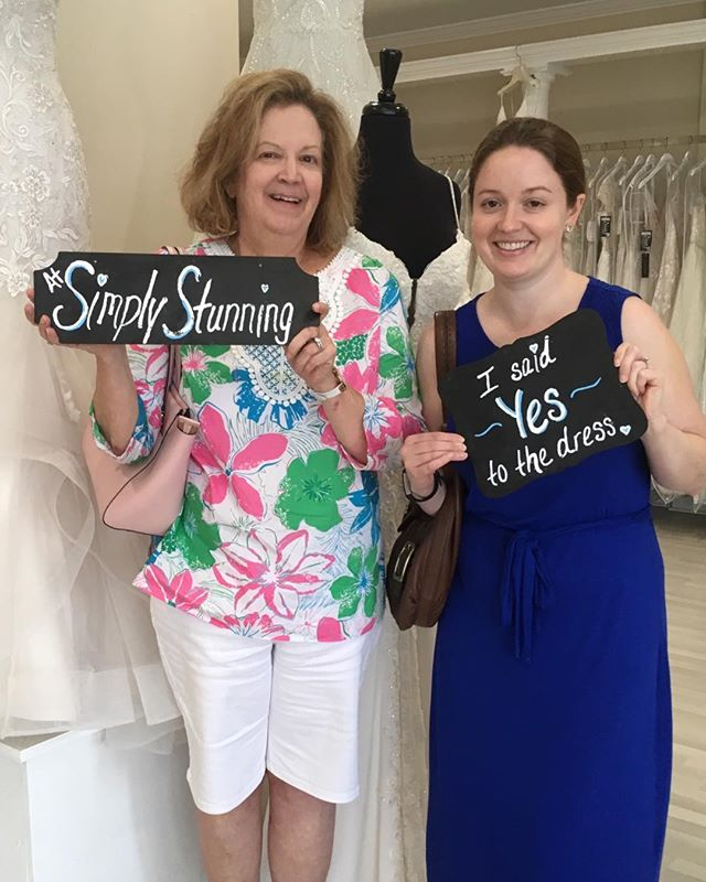 Julie found the perfect dress today! Fit for a Princess! #simplystunningbydivas #simplystunningbride #triadbride #triadwedding #bridetobe #greensborowedding #ncbridalboutique #weddingdress #sayyestothedress