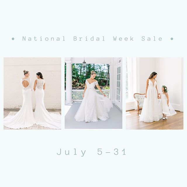 "What are the three words every girl loves to hear? ""IT'S ON SALE!"" Don't forget our #NationalBridalWeek sale is happening until the end of this month! 👛💍💒"