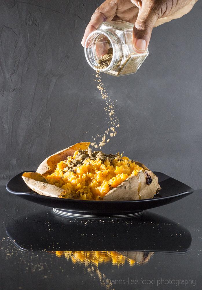 Baked Sweet Potato and Home Made Garam Masala