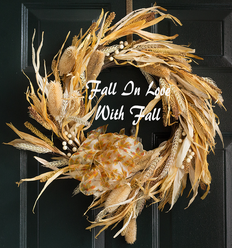 Fall Door Wreath from anns-liee food photography