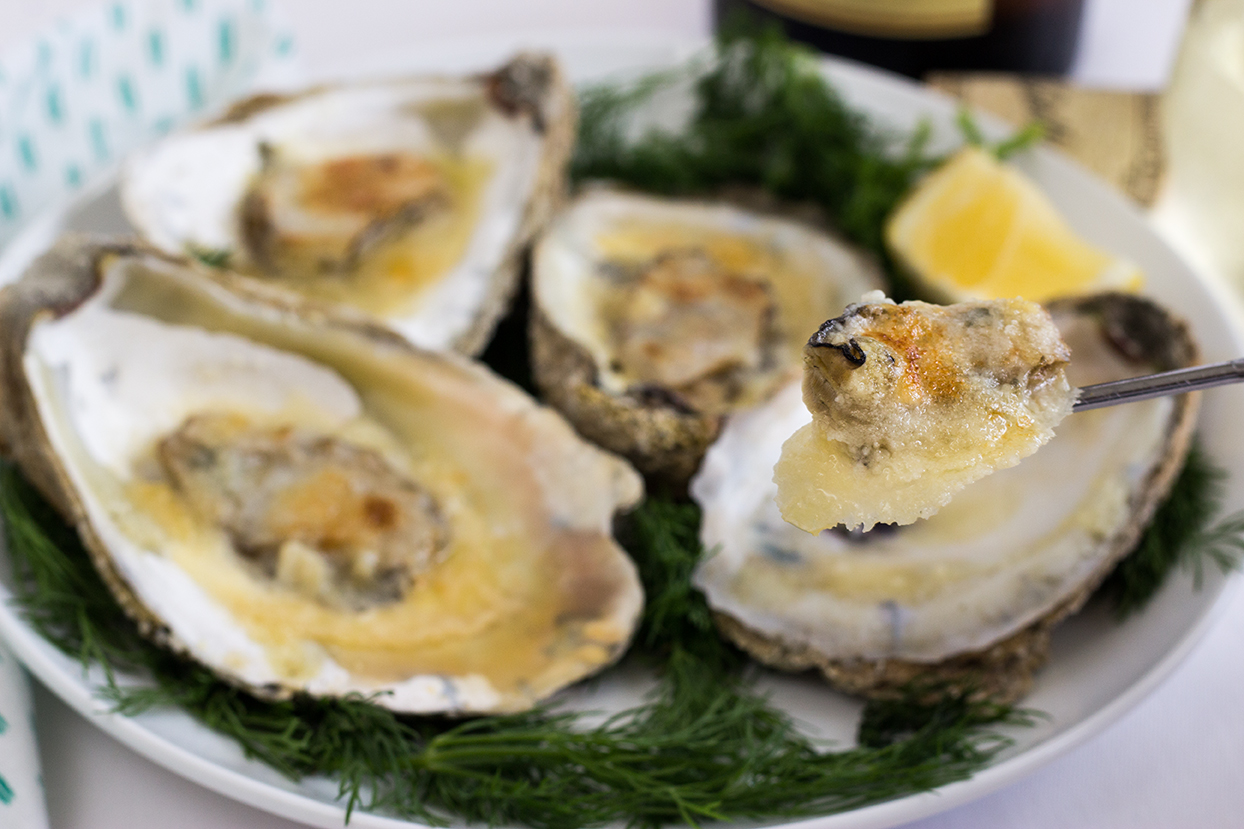 Broiled Parmesan Oysters