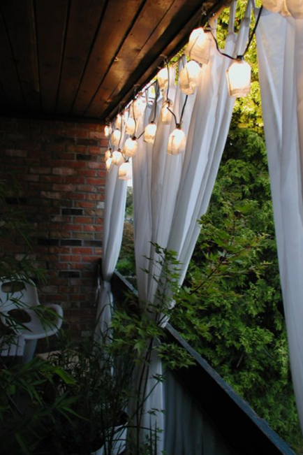 Apartment Patio String Lights