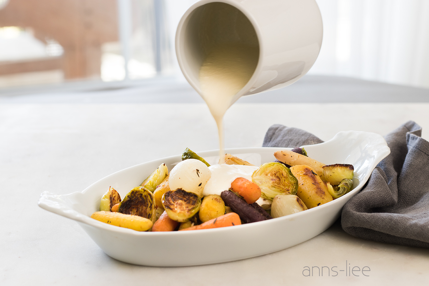 Recipe @  Easy Roasted Brussel Sprouts And Carrots