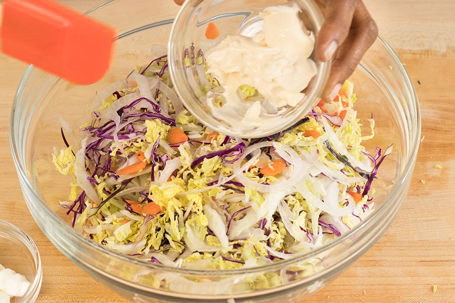 Add mayonnaise