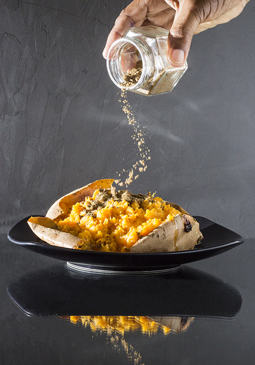 The Mighty   Sweet Potato With Garam Masala
