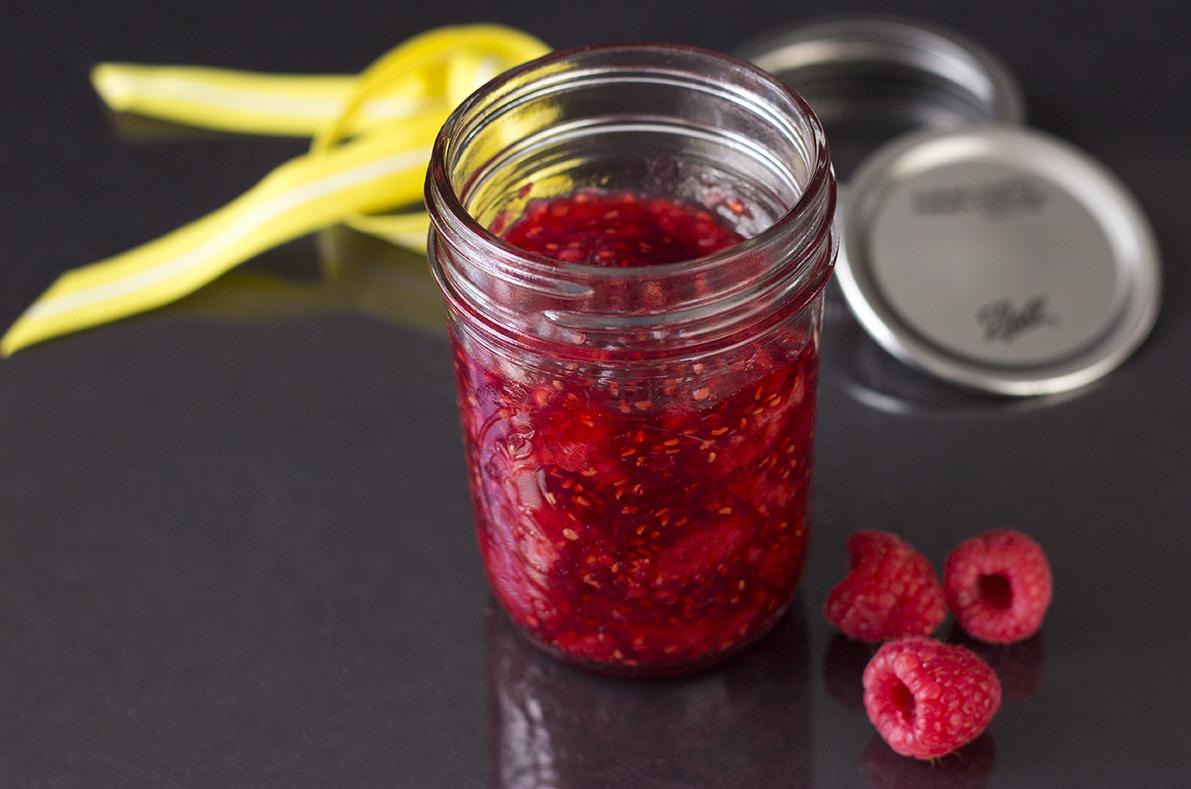 Raspberry Compote With Grande Marnier Liqueur