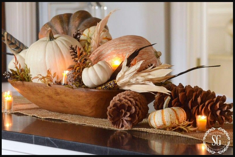 Fall Centerpiece from Stone Gable   image source